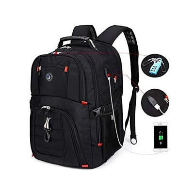 SHRRADOO Extra Large Durable 50L Travel Laptop Backpack School Backpack Tra
