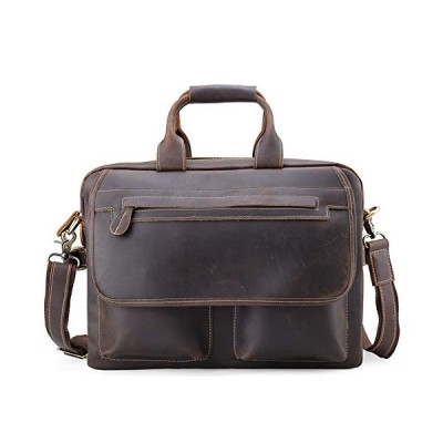 "新品 XLEI Messenger Laptop Case for 14"" Computer Men's Leather Briefcase Attache Case Tote Shoulder Bag"