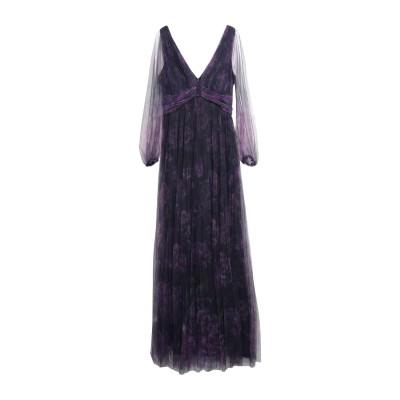 マルケッサ・ノッテ MARCHESA NOTTE ロングワンピース&ドレス ダークパープル 6 ナイロン 100% ロングワンピース&ドレス