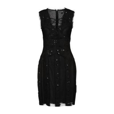 ジャストカヴァリ JUST CAVALLI ミニワンピース&ドレス ブラック 40 100% ナイロン ポリエステル ガラス ミニワンピース&ドレス