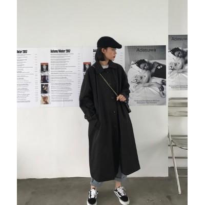 KOR / ルーズシルエット ステンカラーコート WOMEN ジャケット/アウター > ステンカラーコート