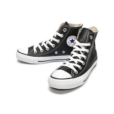 【フットプレイス】 コンバース レザーオールスター ハイ CONVERSE LEATHER ALL STAR HI ユニセックス ブラック 6inch FOOT PLACE