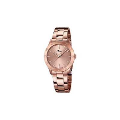 Lotus Women's Quartz Watch with Rose Gold Dial Analogue Display and Stainless Steel Rose Gold Plated Bracelet 18141/2 並行輸入品