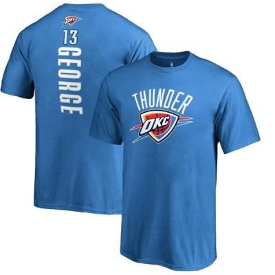 キッズ スポーツリーグ バスケットボール Paul George Oklahoma City Thunder Fanatics Branded Youth Backer Name & Number T-Shirt - Blue