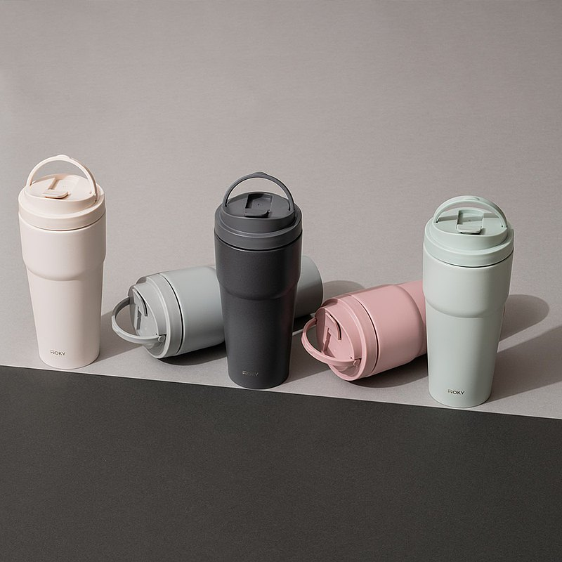 WOKY 沃廚 -手提激凍輕芯鈦瓷易潔層保溫杯750ML(5色可選)