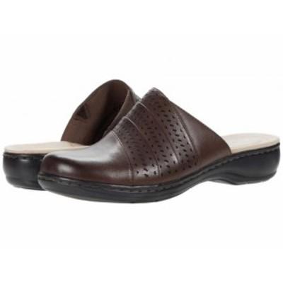 Clarks クラークス レディース 女性用 シューズ 靴 クロッグ Leisa Dana Dark Brown Leather【送料無料】