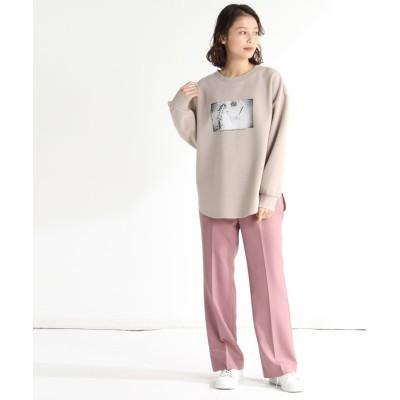(Honeys/ハニーズ)ベルト付セミフレアパンツ/レディース ピンク