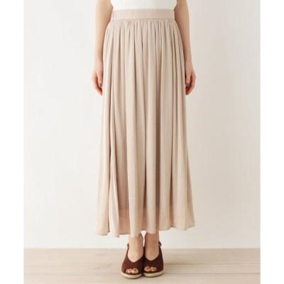 OPAQUE.CLIP(オペークドットクリップ)ヴィンテージサテンスカート【WEB限定サイズ】