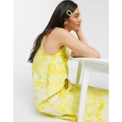 ホイビュルク Hosbjerg レディース ワンピース デニム ノースリーブ ミドル丈 ワンピース・ドレス sleeveless midi dress in marble print denim