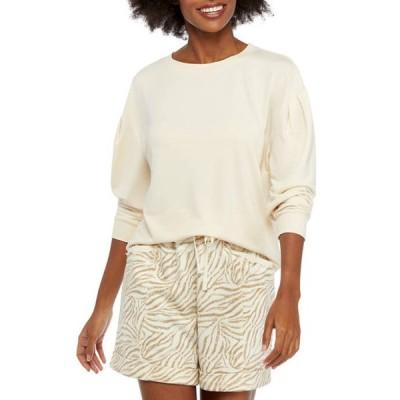 クラウン&アイビー レディース Tシャツ トップス Women's Puff Sleeve Pullover