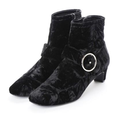 ストロベリーフィールズ STRAWBERRY FIELDS ブーツ (ブラックベルベット)