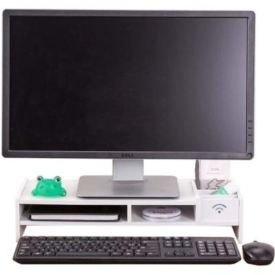 GY PCモニター台 幅48cm 奥行20cm 卓上 パソコンディスプレイ台 ロータイプ モニタースタンド 机上 机上台 引き出し 引き出し付き ノー