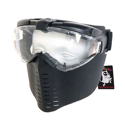 SHENKEL 眼鏡と併用が可能 ファン付 フェイスゴーグル フェイスマスク BK mask-010bk