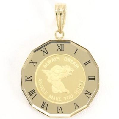 PAMP エンジェル 1/25oz 1/25オンス コイン 金貨 K24YG K18YG ペンダントトップ 総重量約4.8g 中古ジュエリー
