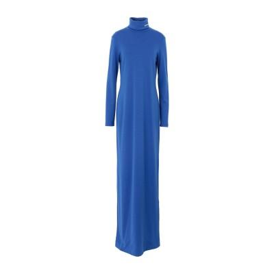 CALVIN KLEIN 205W39NYC ロングワンピース&ドレス アジュールブルー S バージンウール 100% ロングワンピース&ドレス
