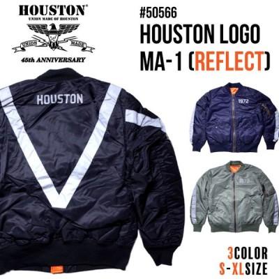 HOUSTON / ヒューストン   50566 HOUSTON LOGO MA-1 REFLECT / ヒューストン ロゴ MA-1 [リフレクト] -全3色-