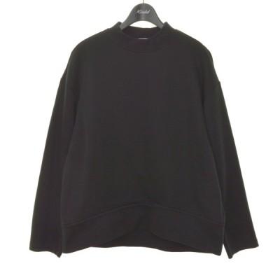LE CIEL BLEU 20AW CONCEALED ZIP SWEAT SHIRT コンシールドジップスェットシャツ ブラック サイズ:36 (堀