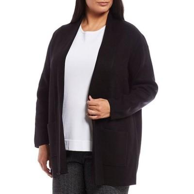 インベストメンツ レディース ジャケット・ブルゾン アウター Plus Size Long Sleeve Open Front Cardigan