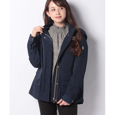<Leilian(Women)/レリアン> フード付きショートジャケット ネービーブルー【三越伊勢丹/公式】