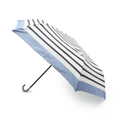 デッサン Dessin リムボーダー晴雨兼用折り畳み傘 (ライトブルー)