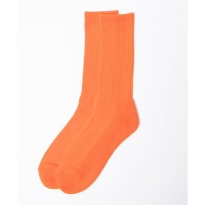 (WEGO/ウィゴー)WEGO/カラーレギュラーソックス/メンズ オレンジ