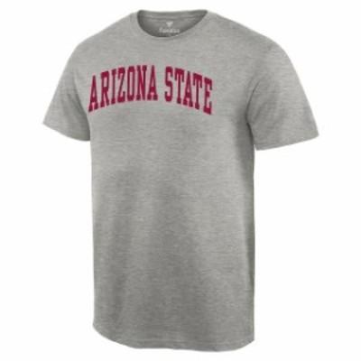 Fanatics Branded ファナティクス ブランド スポーツ用品  Arizona State Sun Devils Heathered Gray Basic Arch T-Shirt