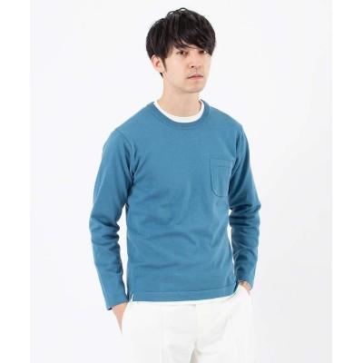 【アバハウス】 アンサンブル ポケット ニット メンズ ブルー 48 ABAHOUSE