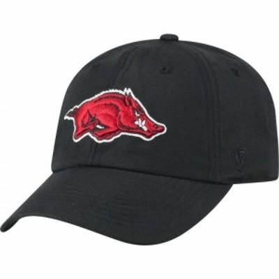 トップオブザワールド Top of the World メンズ キャップ 帽子 Arkansas Razorbacks Staple Adjustable Black Hat