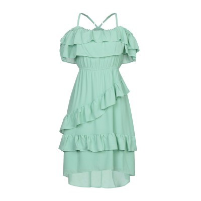 TWENTY EASY by KAOS ミニワンピース&ドレス ライトグリーン 38 ポリエステル 100% ミニワンピース&ドレス