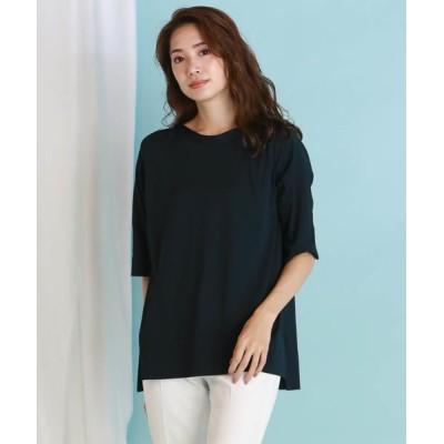 la.f.../ラ・エフ BETTER COOL Tシャツニット グリーン 9号
