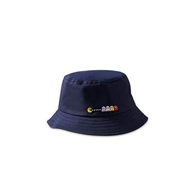 DORRISO レディース 帽子 コットン 折りたたみ サイズ調節 日よけ帽子 つば広 UVカット旅行 自転車 園芸作業 56-58CM 青