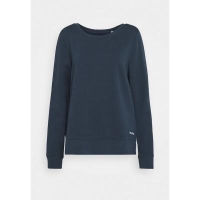 マルコポーロ パーカー・スウェットシャツ レディース アウター LONG SLEEVE ROUND NECK PRINT AT BACK - Sweatshirt - dark night