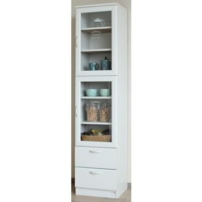 ■セシルナ 食器棚 ホワイト CEC-1840WGH