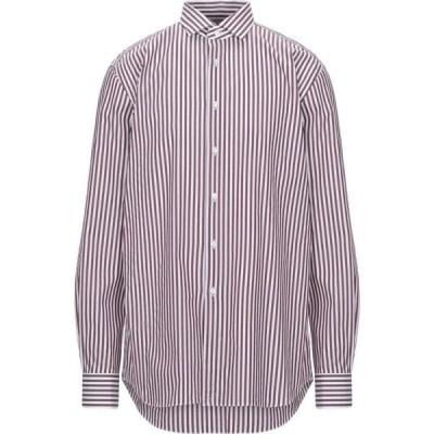 ザカス XACUS メンズ シャツ トップス striped shirt Maroon