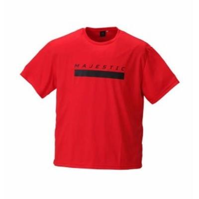 【大きいサイズ】【メンズ】 Majestic 半袖Tシャツ レッド 1178-8270-1 [3L・4L・5L・6L]