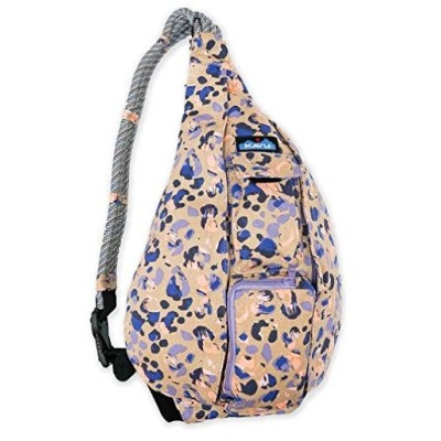 KAVU Original Rope Bag Cotton Crossbody Sling - Wild Spots 並行輸入品