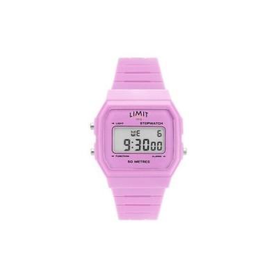 腕時計 レディース リミット Pink Limit Ladies Pink Silicone Strap Classic Digital Watch 5717