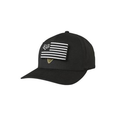 帽子 フォックス Fox Racing Men's Placate Flexfit Hat Black Headwear Motox Baseball Cap Apparel