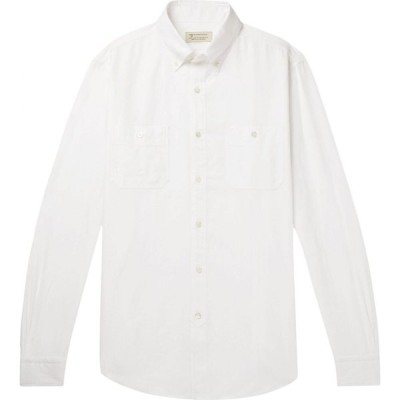 MAN 1924 メンズ シャツ トップス Solid Color Shirt White