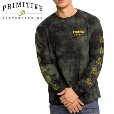 PRIMITIVE プリミティブ スケボー ロング Tシャツ DANASTY L/S TEE ミリタリーグリーン NO27