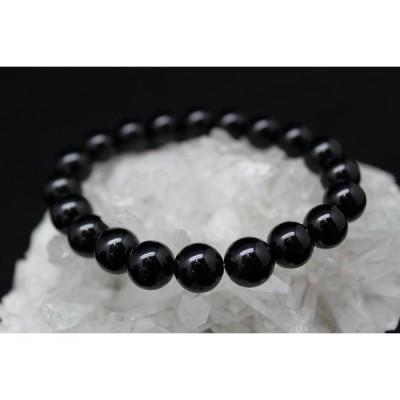 ブラック オニキス 黒瑪瑙 10ミリ 数珠 メンズ レディース ブレスレット
