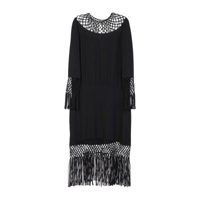 ヴァレンティノ VALENTINO 7分丈ワンピース・ドレス ブラック 38 シルク 100% 7分丈ワンピース・ドレス