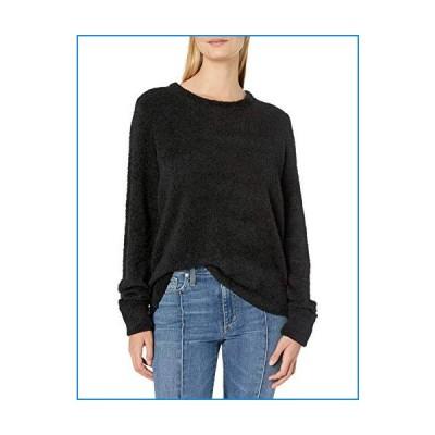 Lucky Brand Women's Teddy Scoop Neck Sweater, Lucky Black, Large【並行輸入品】