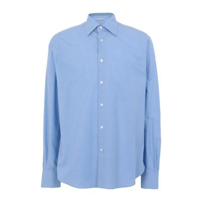 カルーゾ CARUSO シャツ アジュールブルー 42 コットン 100% シャツ