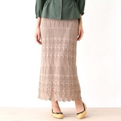グローブ(grove)/透かし編みニットスカート
