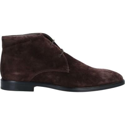 トッズ TOD'S メンズ ブーツ シューズ・靴 boots Dark brown
