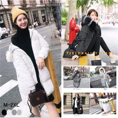 コート ダウン レディース ダウンコート ロングコート 着痩せ ロング 大きいサイズ 中綿 フード アウター 冬物 冬服 暖かい 防寒
