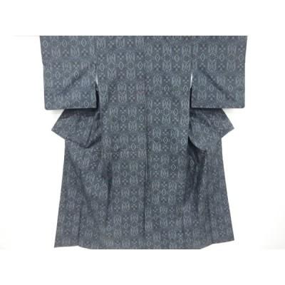 宗sou 花更紗模様織り出し本場村山大島紬着物【リサイクル】【着】
