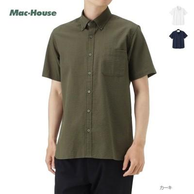 シャツ 半袖 半袖シャツ カジュアルシャツ メンズ 無地 シンプル オーガニックコットン