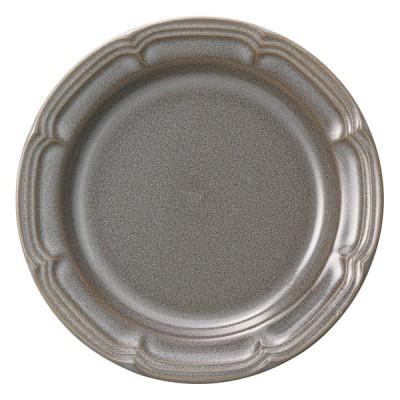 洋食器 中皿 / ラフィネ ストームグレー 16cmリムプレート 寸法:16 x 1.5cm